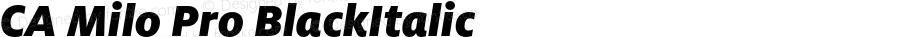 CA Milo Pro BlackItalic Version 1.000