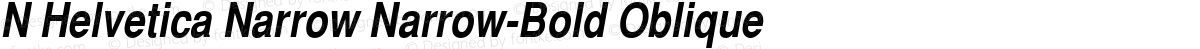 N Helvetica Narrow Narrow-Bold Oblique