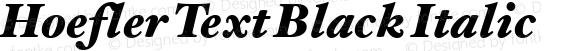 Hoefler Text Black Italic