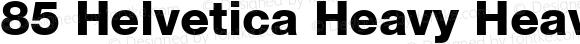 85 Helvetica Heavy Heavy 001.000