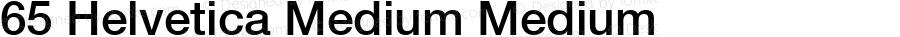 65 Helvetica Medium Medium 001.000