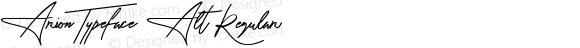 Arion Typeface Alt Regular