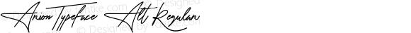 Arion Typeface Alt Regular Version 1.000;PS 001.001;hotconv 1.0.56