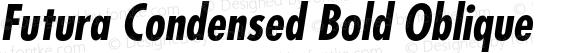 Futura Condensed Bold Oblique