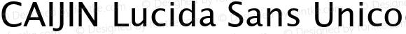 CAIJIN Lucida Sans Unicode Regular