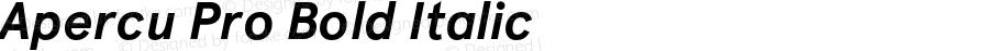 Apercu Pro Bold Italic Version 1.000