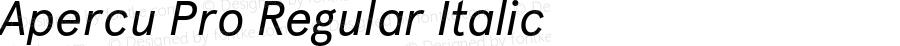 Apercu Pro Regular Italic Version 1.000