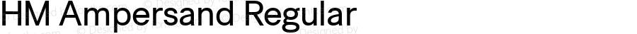 HM Ampersand Regular Version 1.70 - ESQ