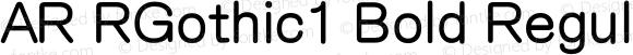 AR RGothic1 Bold Regular Version 2.001;PS 001.001;hotconv 1.0.38