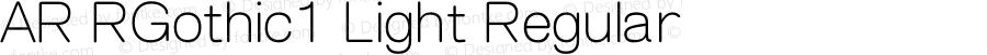 AR RGothic1 Light Regular Version 2.001;PS 001.001;hotconv 1.0.38