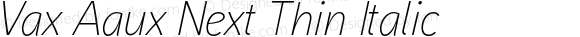 Vax Aaux Next Thin Italic