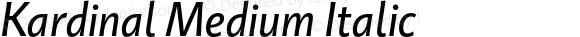 Kardinal Medium Italic