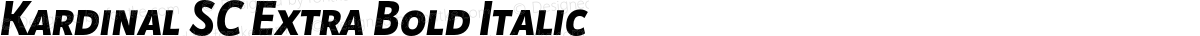 Kardinal SC Extra Bold Italic