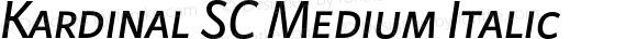 Kardinal SC Medium Italic