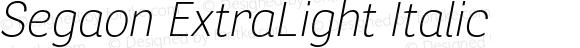 Segaon ExtraLight Italic