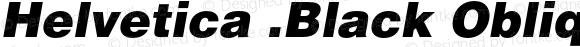 Helvetica .Black Oblique