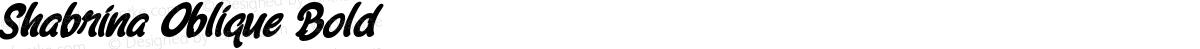 Shabrina Oblique Bold