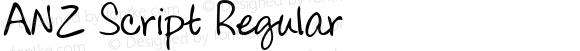 ANZ Script Regular Version 2.000