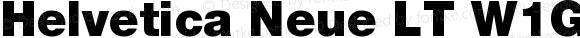 Helvetica Neue LT W1G 95 Black