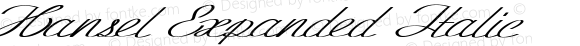 Hansel Expanded Italic