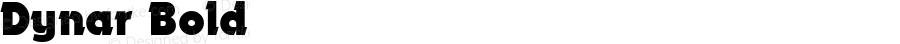 Dynar Bold 1.0 Mon Oct 18 15:35:51 1993