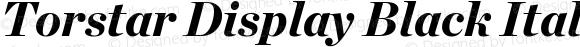 Torstar Display Black Italic