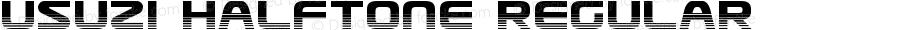 Usuzi Halftone Regular Version 3.0; 2015