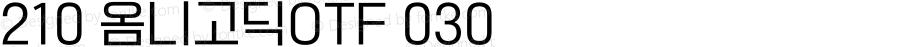 210 옴니고딕OTF 030