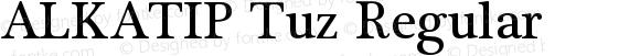 ALKATIP Tuz Regular Version 6.00 December 3, 2016