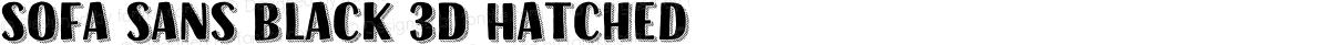 Sofa Sans Black 3D Hatched