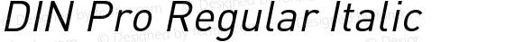 DIN Pro Regular Italic