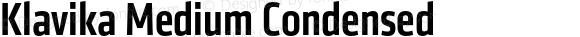 Klavika Medium Condensed