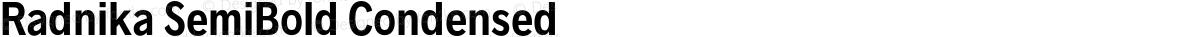 Radnika SemiBold Condensed