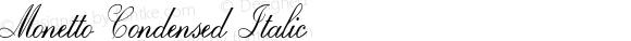 Monetto Condensed Italic