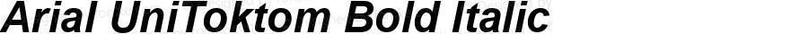 Arial UniToktom Bold Italic Version 2.90