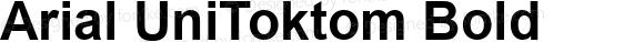 Arial UniToktom Bold Version 2.90