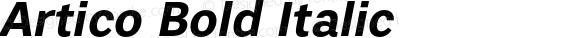Artico Bold Italic Version 1.000