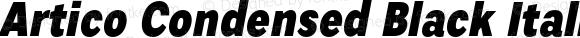 Artico Condensed Black Italic Version 1.000