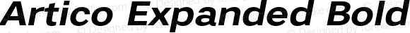 Artico Expanded Bold Italic Version 1.000