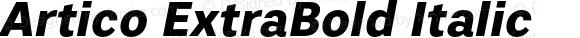 Artico ExtraBold Italic Version 1.000