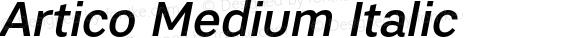 Artico Medium Italic Version 1.000