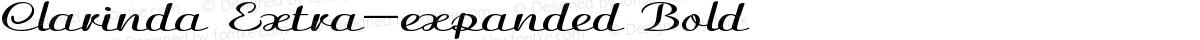 Clarinda Extra-expanded Bold