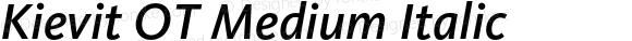 Kievit OT Medium Italic
