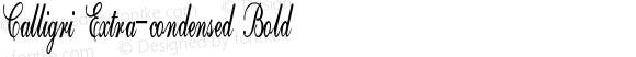 Calligri Extra-condensed Bold