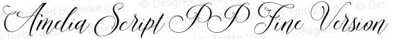 Amelia Script PP Fine Version Version 1.000;PS 001.000;hotconv 1.0.88;makeotf.lib2.5.64775