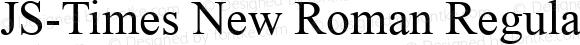 JS-Times New Roman Regular Version 1