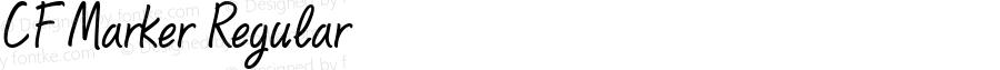 CF Marker Regular Altsys Fontographer 4.1 20‐03‐97