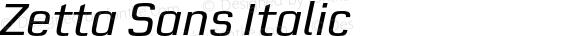 Zetta Sans Italic