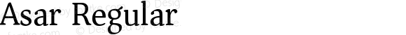 Asar Regular Version 1.002; ttfautohint (v1.3) -l 8 -r 50 -G 0 -x 0 -H 45 -D deva -f latn -m