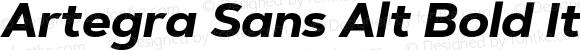 Artegra Sans Alt Bold Italic Version 1.00;com.myfonts.easy.artegra.artegra-sans.alt-bold-italic.wfkit2.version.4KmQ